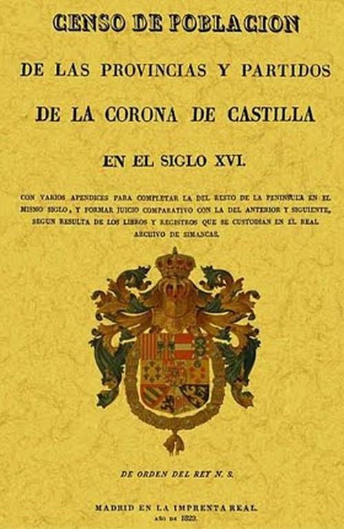 Censo de población de las Provincias y Partidos de Castilla s. XVI