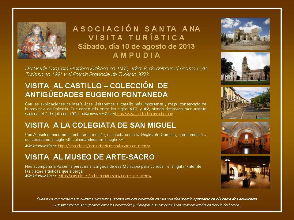 Verano Cultural 2013- Itinerario Turístico