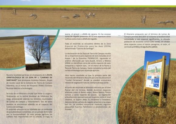 Triptico ruta ornitologica interior