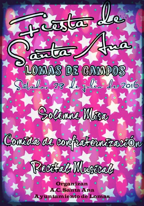 Cartel 2 Fiesta de Santa Ana